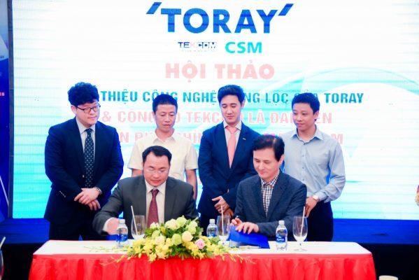 Tekcom hợp tác với TORAY phân phối màng lọc RO CSM